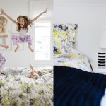 lapsi hyppii sängyllä