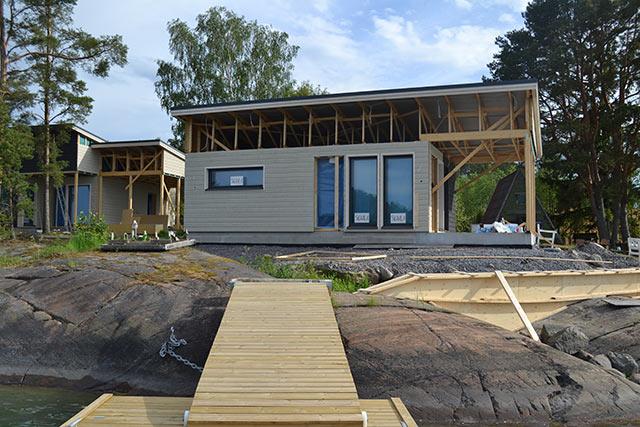Talo ja sauna ennen...