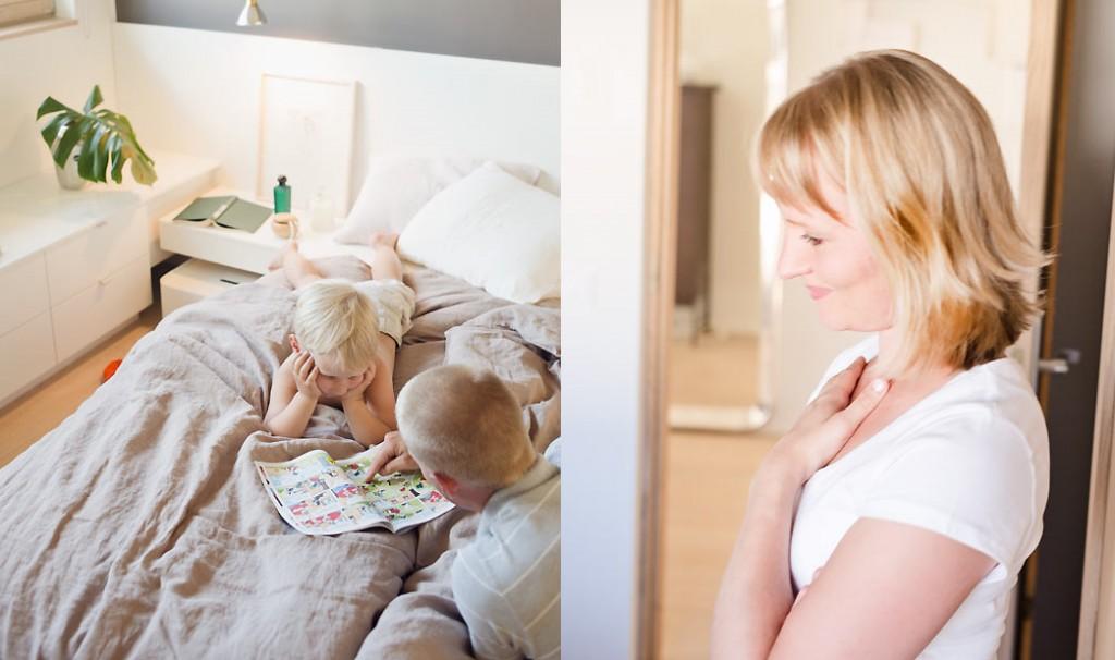 Arkkitehtimme Sanna Hautamäki sanoo, että arki kahden pojan äitinä on vaikuttanut myös hänen suunnittelufilosofiaansa.