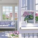 kannustalon rauhala-talon veranta